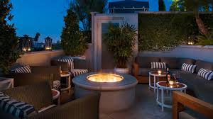 roof garden design hotel. peninsula beverly hills the roof garden firepit design hotel 0