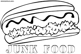 Coloring Pages Of Fast Food Best Of Junk Food Coloring Pages Giant