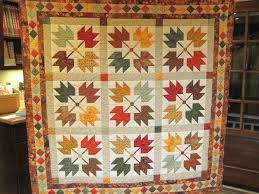"Maple Leaves and a Quilt Built on a Legend – 24 Blocks & from Nancy Evans Bale: ""I saw this pattern on the front of a quilting  magazine about 10 years ago. I loved picking out the material! Adamdwight.com"