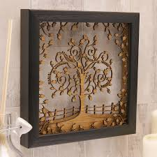 family tree frame wall hanging with engraved family name