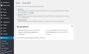 how to access yoast file editor