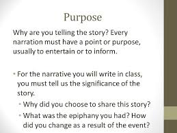narrative writing weaver structuring a narration essay a  3 purpose