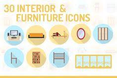 creative furniture icons set flat design. 30 Interior \u0026 Furniture Icons By Graphiqa-Stock On Creative Market · Flat IconsIcon IllustrationsIcon DesignIcon SetInternet Set Design