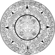 How To Make A Mayan Temple Model Coloring Pages Aztec Calendar
