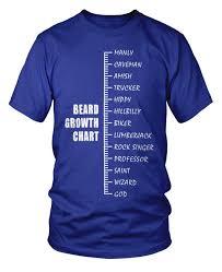 Beard Growth Chart T Shirt From Beardoholic Com Gift Ideas