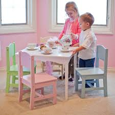KidKraft Nantucket Pastel Table and Chair Set - Childrens Table ...