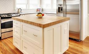 white kitchen island with butcher block top ideas throughout islands tops decorations 12