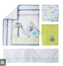elephant crib bed sheet set from target baby boy nursery ideas blue elephant theme