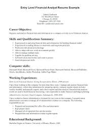 Objective For Resumes General Entry Level Resume Objective