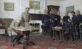 Image result for The Civil War effectively ended with the surrender of General Lee's Army of Northern Virginia in April 1865.