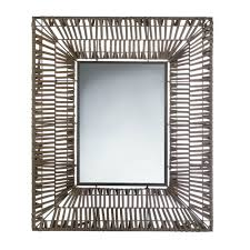 wall mirrors large contemporary wall mirror for bathroom brown faux rattan com