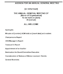 Outlook Meeting Agenda Template Investment Committee Agenda Template