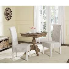 google express safavieh rural woven dining arjun white washed wicker dining chairs set of