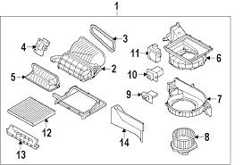 parts com® kia sorento evaporator heater components oem parts 2011 kia sorento base l4 2 4 liter gas evaporator heater components