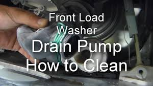 unclog washer drain.  Unclog Front Load Washer Repair  Not Draining Or Spinning How To Unclog The  Drain Pump YouTube Throughout