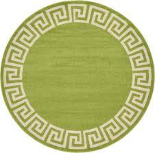 8 x 8 greek key round rug