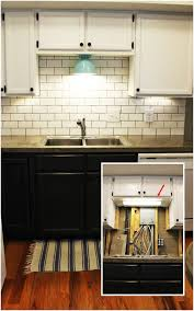 kitchen home lighting tips mesmerizing kitchen. Mesmerizing Wall Mount Plug In Lamp Kitchen With Wooden Set And Blue Lights Home Lighting Tips