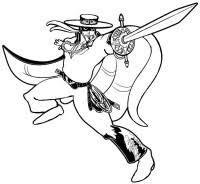 12 Disegni Di Zorro Da Colorare