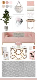 Small Picture Blush Copper Grey Home Decor Interior inspiration Living