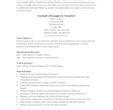 Resumes For Google Google Resume Example Google Resume Example Google Resume Examples