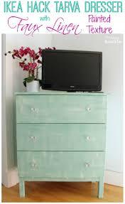 ikea tarva dresser hack faux linen. Exellent Linen Ikea Hack Tarva Dresser With Faux Linen Painted Texture At The Happy Housie To E