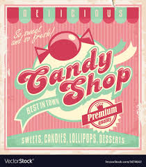 Poster Templet Vintage Poster Template For Candy Shop Royalty Free Vector