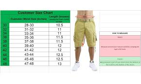 Galaxy By Harvic Size Chart Galaxy By Harvic Mens Belted Multi Pocket Cargo Utility