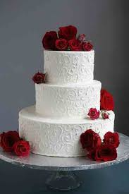 3 Tier Polka Dot And Fresh Flower Wedding Cake Www