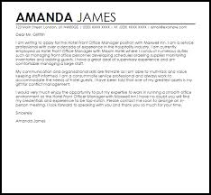 brilliant ideas of hotel front office manager cover letter sample on sample hotel front desk