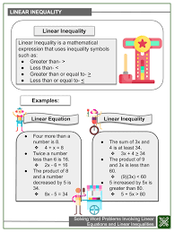 solving word problems involving linear