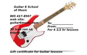 Guitar Lesson Gift Certificate Template Gift Certificates Guitar 6 School Of Music