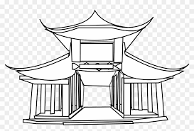 The logo is colored golden in a very dark environment, and the arch is drawn by a signal flare. Full Size Of How To Draw An Easy Disney Castle A Step Chinese House Coloring Pages Hd Png Download 1979x1464 510723 Pngfind