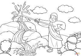 Miriam And Baby Moses Coloring Page Incredible Precious Moments