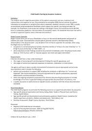 Nursing Documentation Charting By Exception Child Health Charting By Exception Guidance 070112