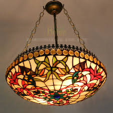 stained glass chandelier decor