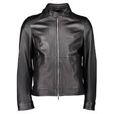 hugo boss nartimo premium leather jacket black