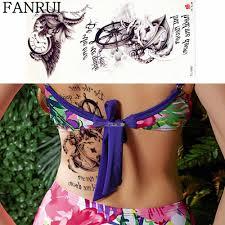 черный назад талии часы пиратский поддельные татуировки наклейки для девочек