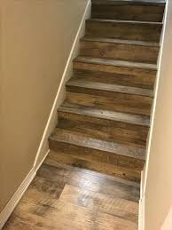 vinyl plank flooring for stairs on shaw stair nose installation