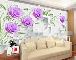 Purple Flower Wallpaper For Bedroom Purple Flower Wallpaper For Living Room Living Room Ideas