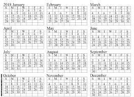 blank 2018 calendar blank 2018 full year calendar