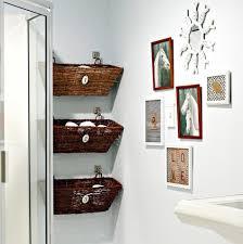 bathroom wall decor. Deep Finished Wicker Baskets And Decorative Horse Bathroom Wall Decor Ideas For Unique Interior Design R