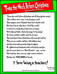 a christmas poem for teachers mostly true stories of k renae p nightbefore