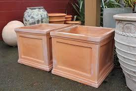Terracotta pots - square