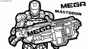 Nerf Gun Coloring Pages Logo How To Draw A Free At Bitsliceme