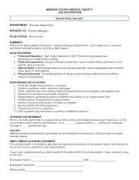Medical Billing Resume Sample Medical Resume Sample Medical Billing