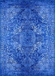 cobalt blue area rug