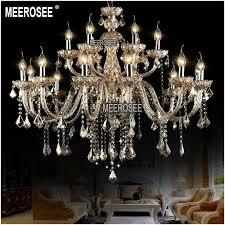 large hotel chandelier vintage crystal chandelier lamp 18 arms cognac crystal ers pendente for foyer