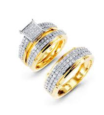 Wedding Ring Sets Yellow Gold Wedding Ring Sets For Her Zales