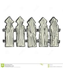 Wooden fence stock vector Illustration of illustration 36156370