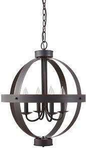 allen roth crossburg 17 72 in oil rubbed bronze industrial single orb pendant
